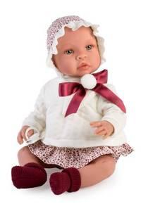 Bilde av Asi Leonora dukke hvit genser